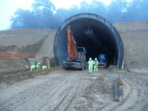Hindhead Tunnel south portal